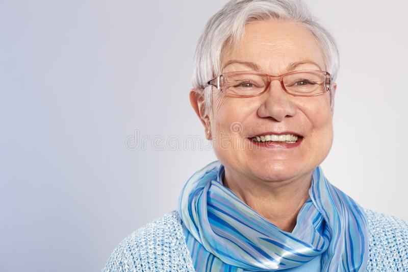 Szczęśliwa babcia zdjęcia royalty free