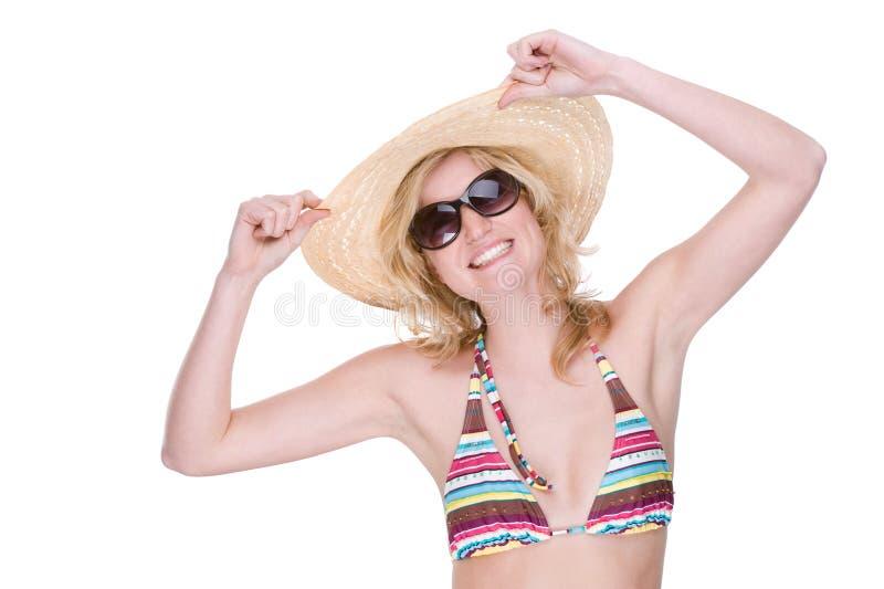 szczęśliwa bikini dziewczyna zdjęcie stock