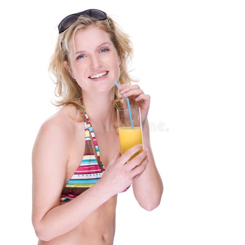 szczęśliwa bikini dziewczyna obraz stock