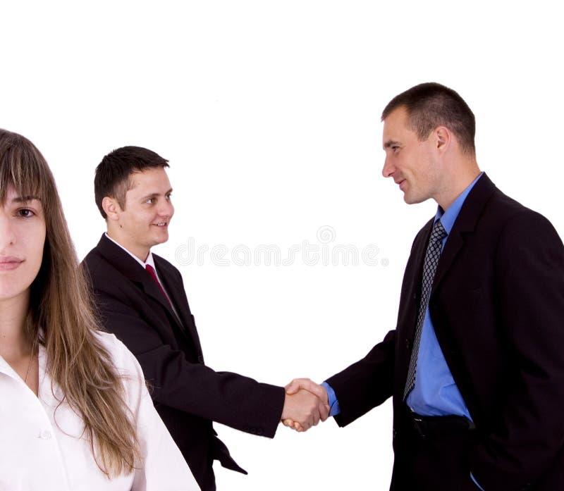 szczęśliwa biznesowej zespołu obrazy stock