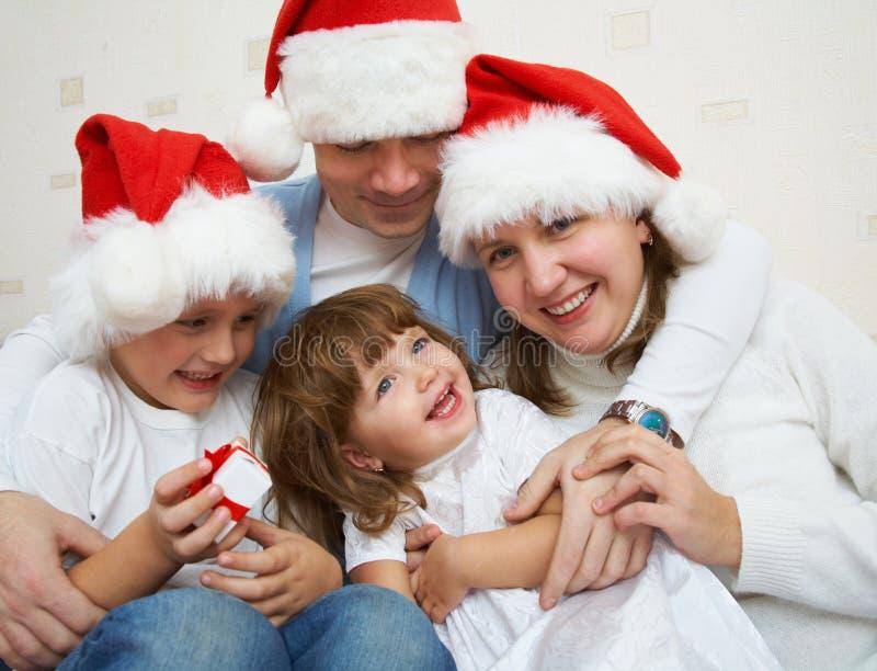 szczęśliwa Boże Narodzenie rodzina obrazy royalty free
