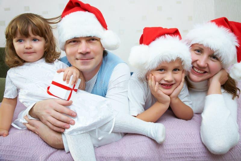 szczęśliwa Boże Narodzenie rodzina obraz stock