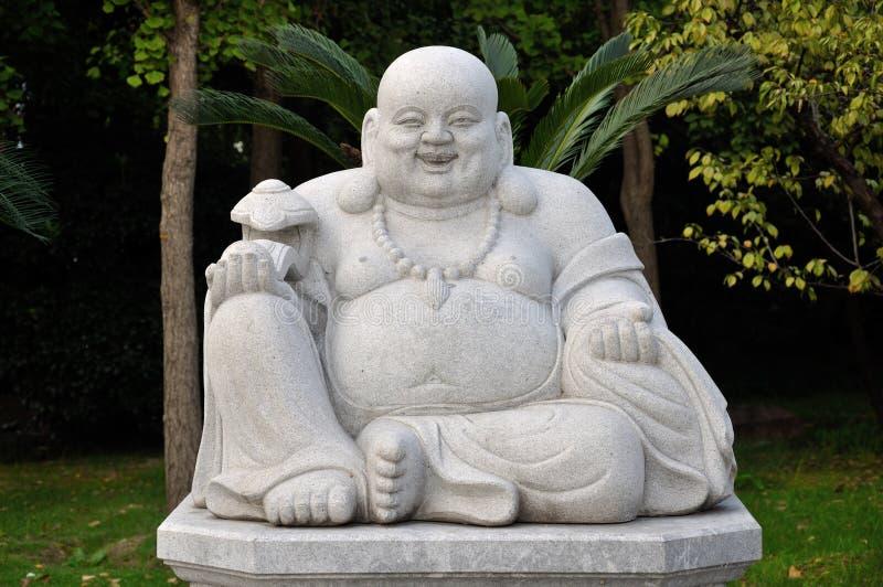szczęśliwa Buddha statua obraz royalty free