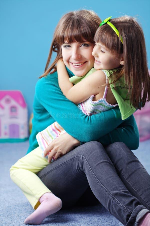 szczęśliwa córki matka obrazy stock