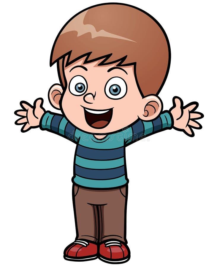Szczęśliwa chłopiec royalty ilustracja