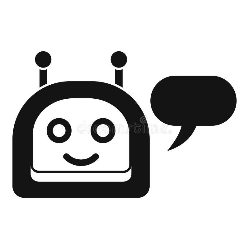 Szczęśliwa chatbot ikona, prosty styl ilustracji