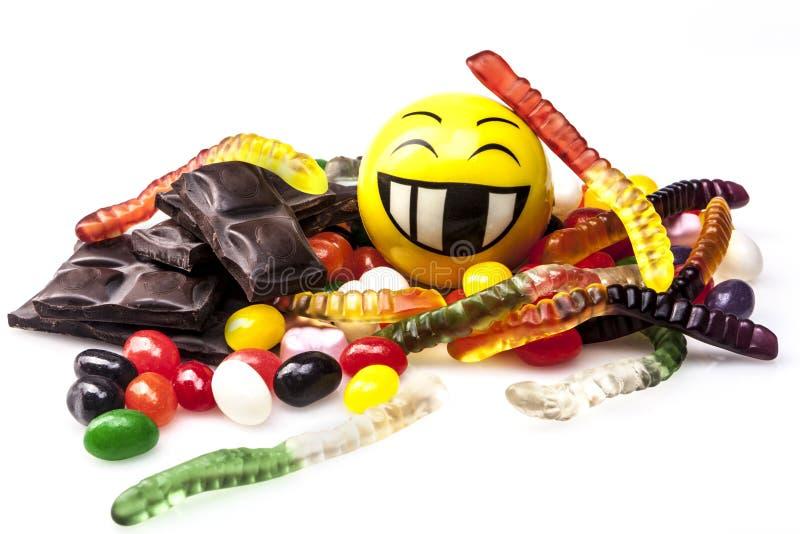 Szczęśliwa cukierki dieta obrazy royalty free