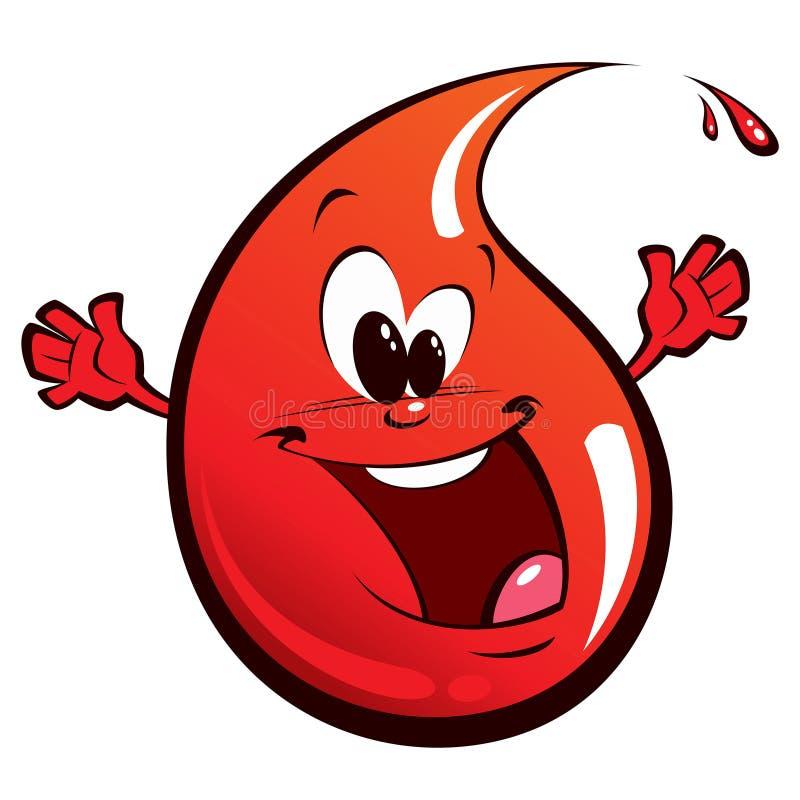Czerwona szczęśliwa kropla ilustracja wektor