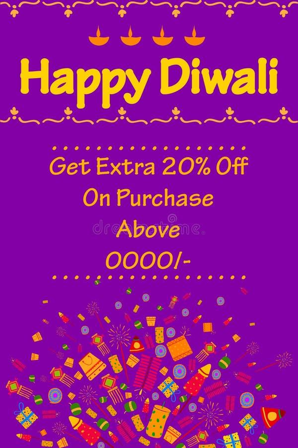 Szczęśliwa Diwali rabata sprzedaży promocja royalty ilustracja