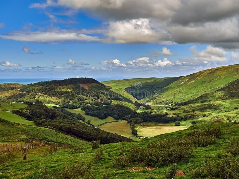 Szczęśliwa dolina Maethlon lub Cwm zdjęcie royalty free