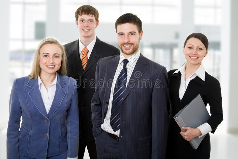 szczęśliwa drużyna zdjęcie royalty free