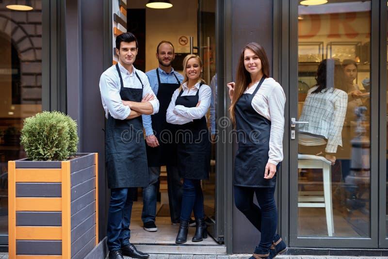Szczęśliwa drużyna bufet obraz stock