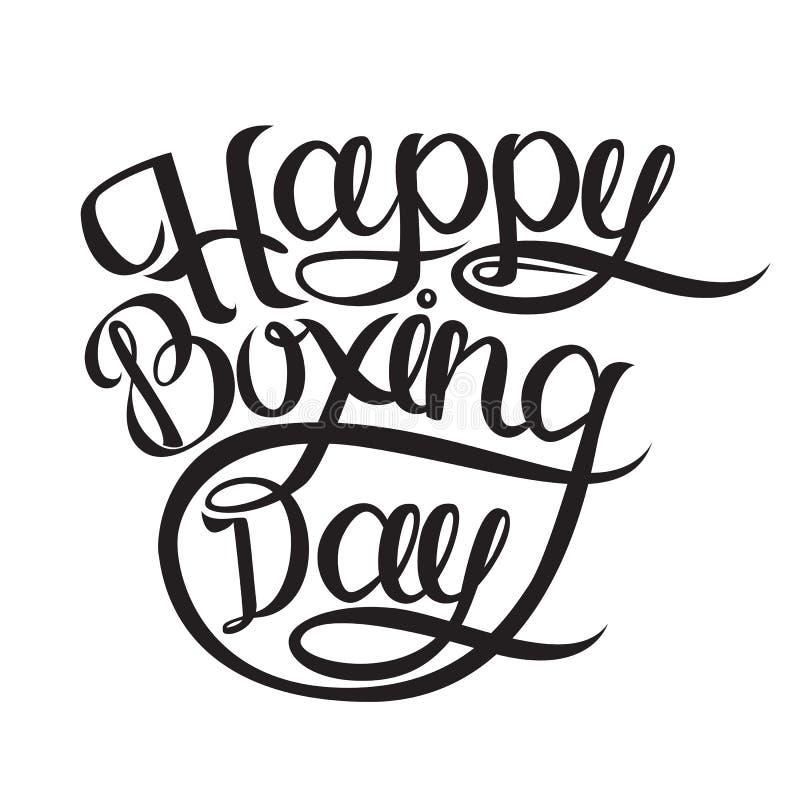 Szczęśliwa drugi dzień świąt bożego narodzenia pocztówka, sztandar lub Atrament ilustracja Nowożytna szczotkarska kaligrafia poje royalty ilustracja