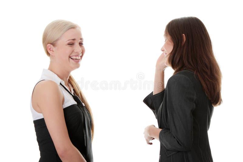 Szczęśliwa Dwa Kobiety Zdjęcia Royalty Free