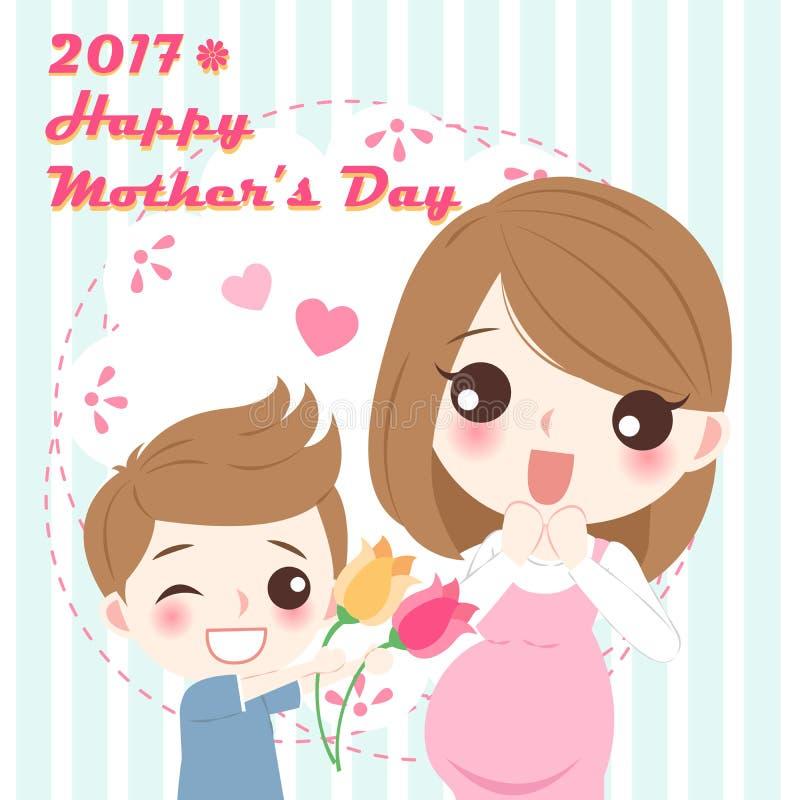 szczęśliwa dzień matka ilustracja wektor