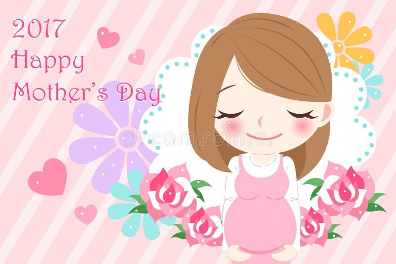 szczęśliwa dzień matka royalty ilustracja