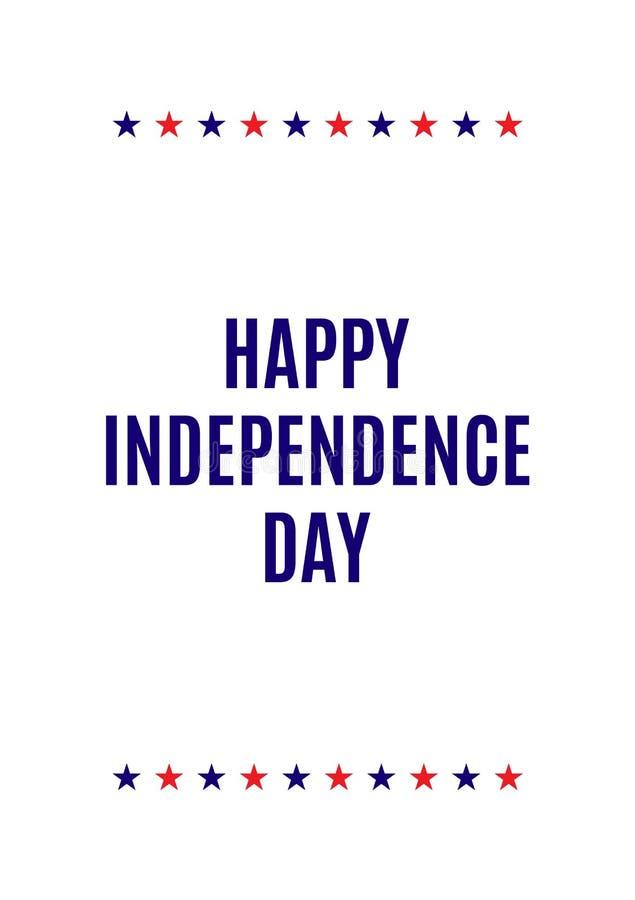 Szczęśliwa dzień niepodległości ulotka royalty ilustracja