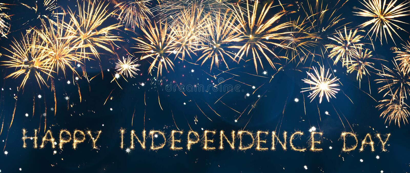 szczęśliwa dzień niezależność fotografia royalty free