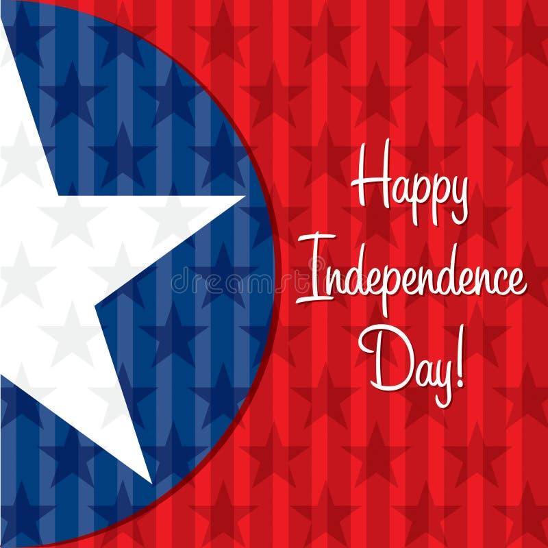 szczęśliwa dzień niezależność ilustracja wektor