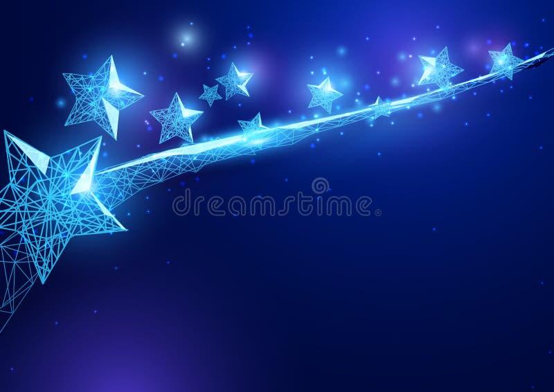 szczęśliwa dzień niezależność gwiazdy forma gwiaździsty niebo ilustracji
