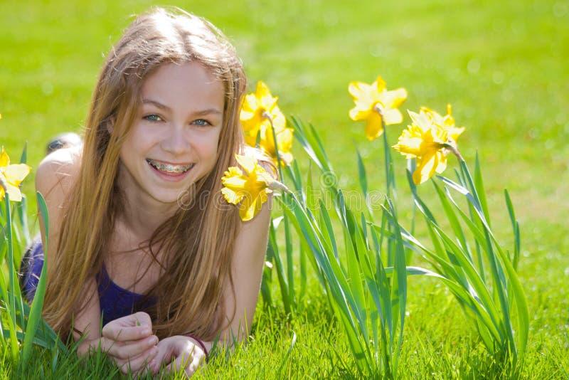szczęśliwa dzień wiosna zdjęcie stock