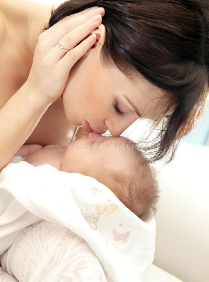 szczęśliwa dziecko matka obrazy stock