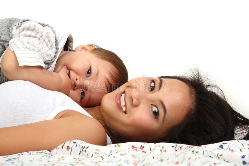 szczęśliwa dziecko matka zdjęcia royalty free