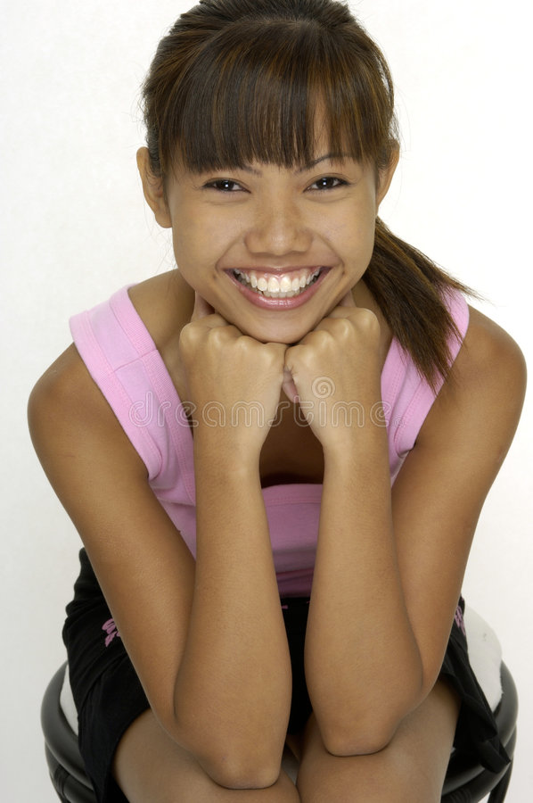 Szczęśliwa Dziewczyna 3 Obrazy Royalty Free