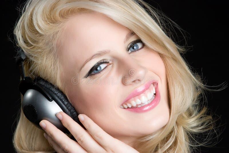 szczęśliwa dziewczyny muzyka obrazy stock