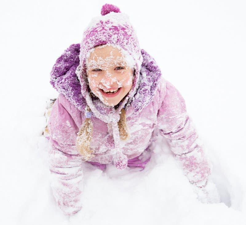 szczęśliwa dziewczyny zima fotografia royalty free