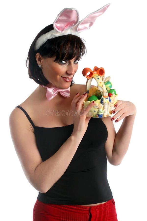 Szczęśliwa Easter dziewczyna zdjęcia stock