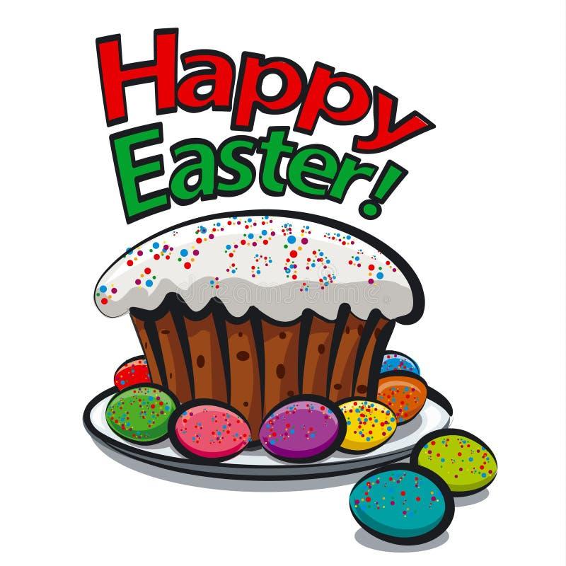 Szczęśliwa Easter karta ilustracji