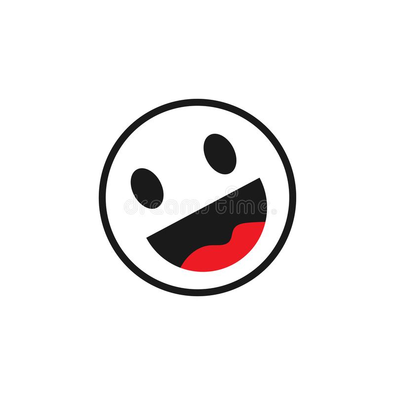 Szczęśliwa emoticon graficznego projekta szablonu wektoru ilustracja ilustracji