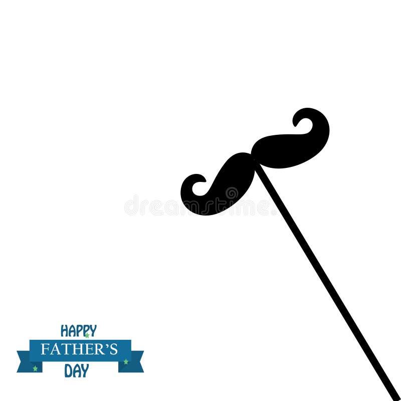 Szczęśliwa Father's dnia kaligrafii kartka z pozdrowieniami r?wnie? zwr?ci? corel ilustracji wektora ()- Wektor kartoteka royalty ilustracja