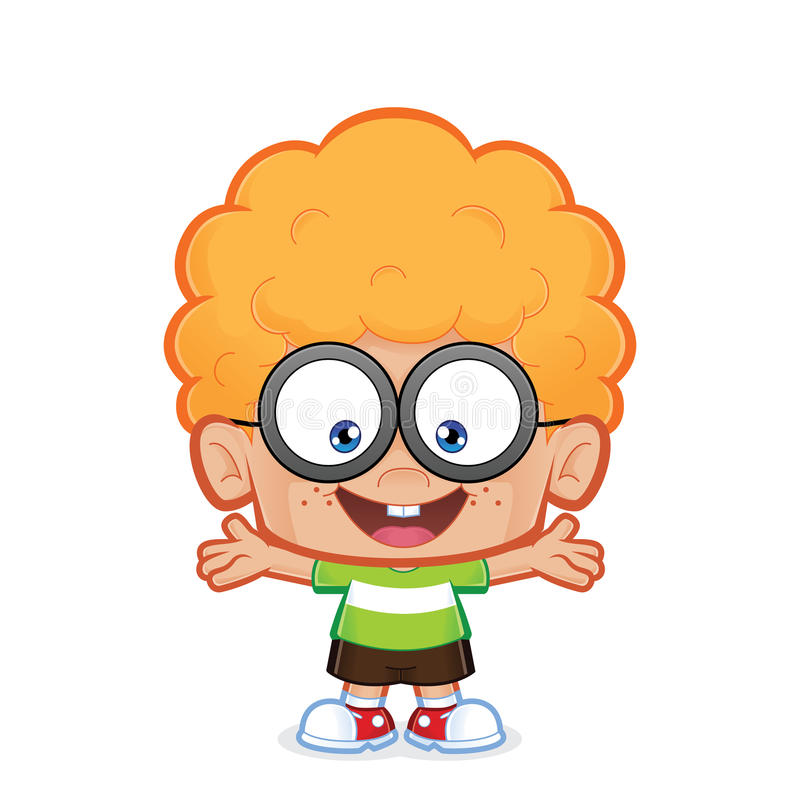 Szczęśliwa głupek chłopiec ilustracji