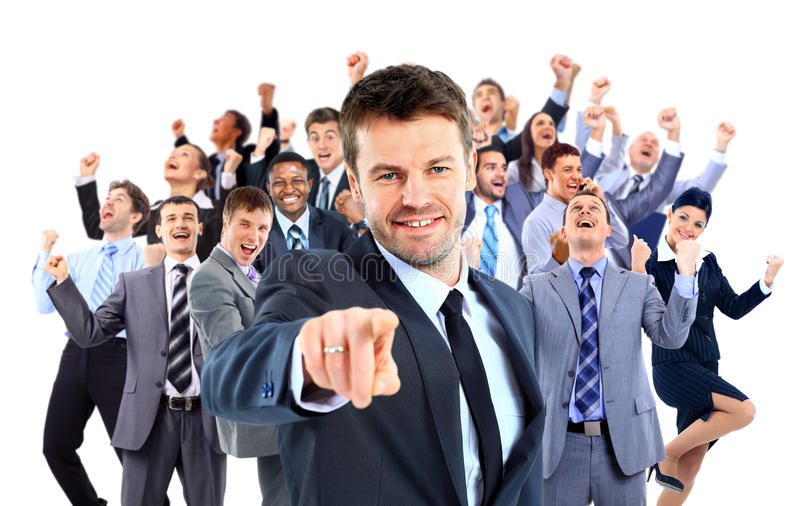Szczęśliwa Grupa Biznesowa obraz stock