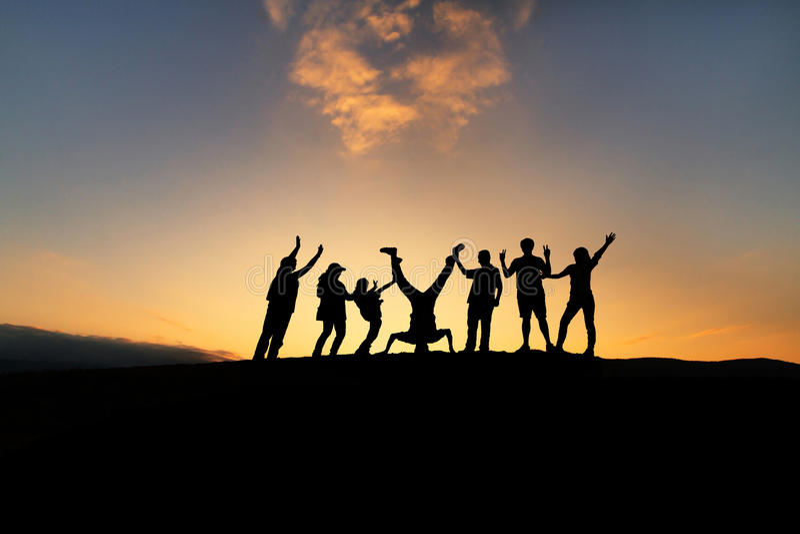 Szczęśliwa grupa różnorodni ludzie obrazy stock