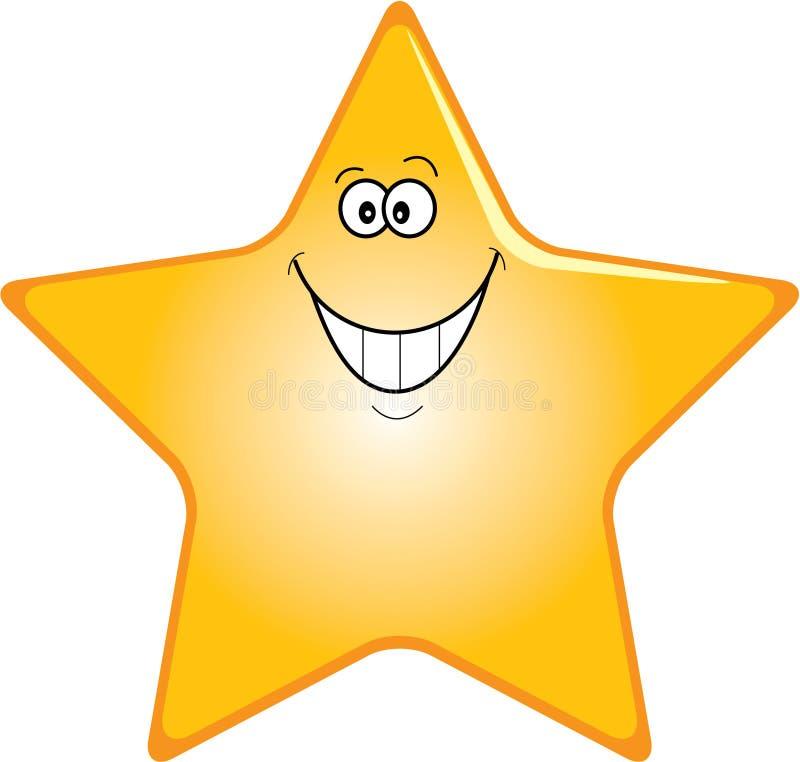 szczęśliwa gwiazda royalty ilustracja