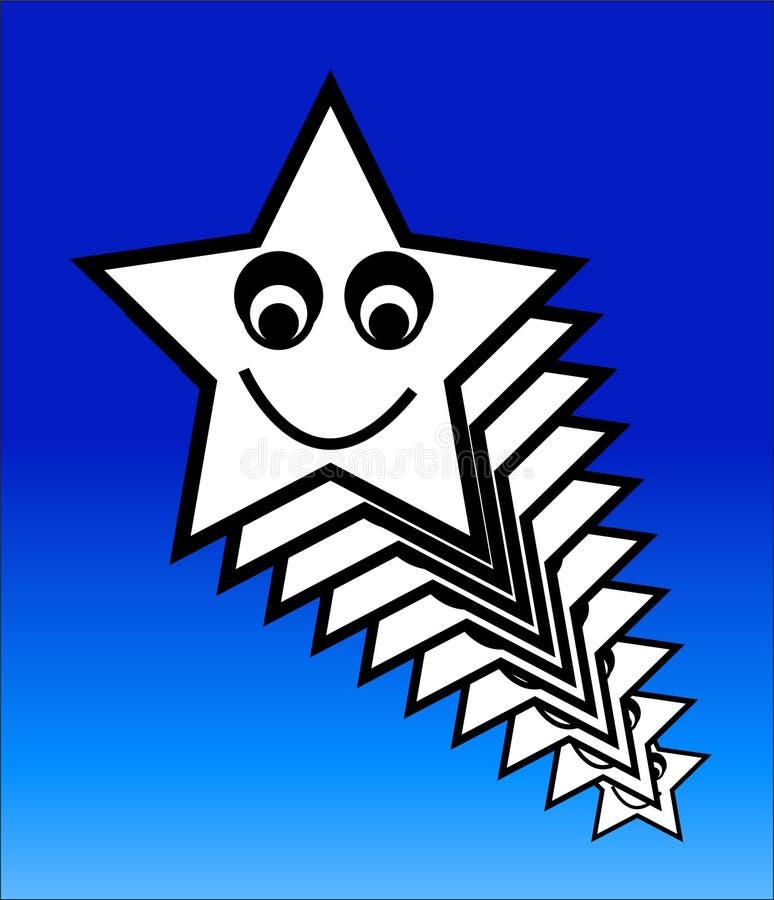 Szczęśliwa Gwiazda 6 royalty ilustracja