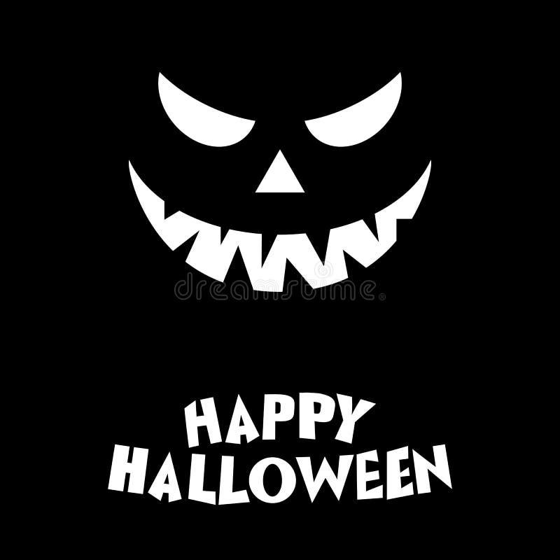 Szczęśliwa Halloween Dyniowa ilustracja na czarnym tle ilustracja wektor