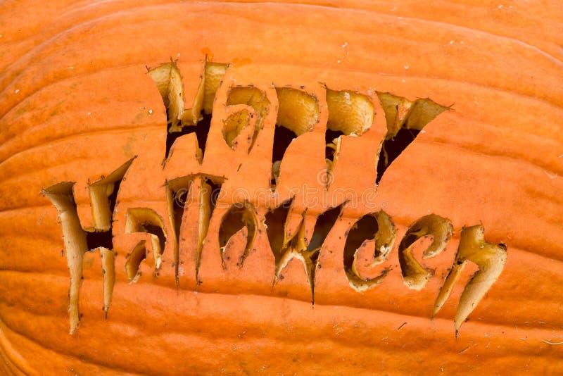 Szczęśliwa Halloweenowa bania zdjęcia royalty free
