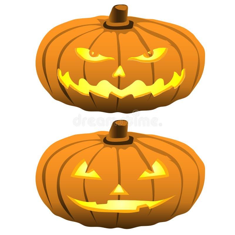 Szczęśliwa Halloweenowa dyniowa wektor ilustracja ilustracja wektor