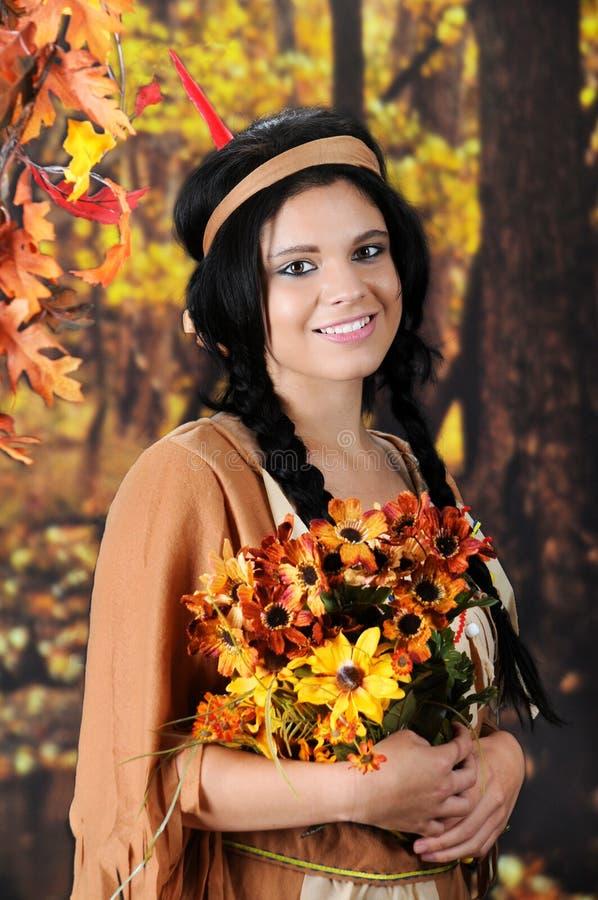 Szczęśliwa Indiańska dziewczyna fotografia stock