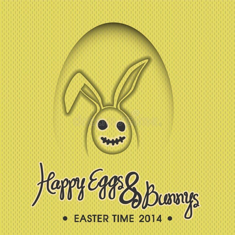 Szczęśliwa jajek & królika ilustracja ilustracja wektor