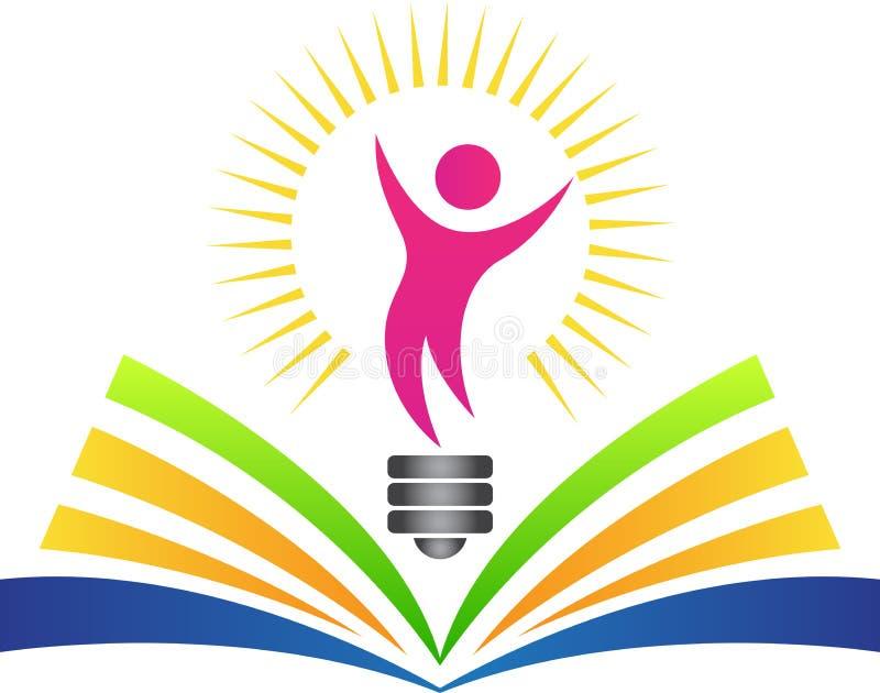 Szczęśliwa jaskrawa edukacja ilustracja wektor