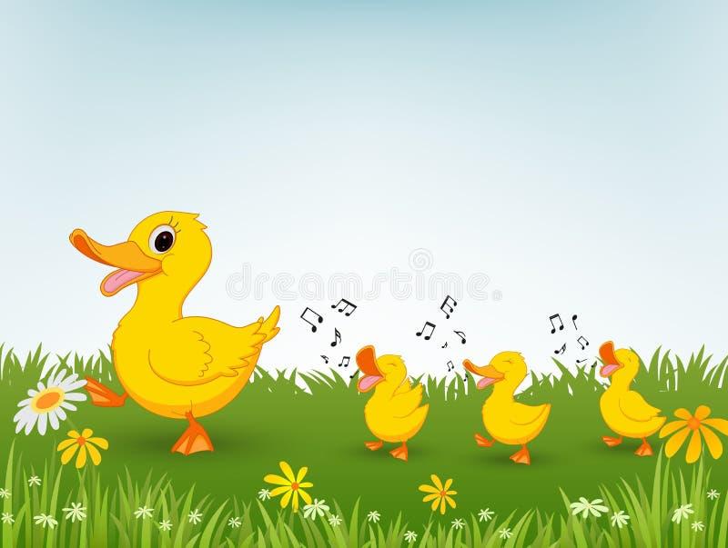 Szczęśliwa kaczki kreskówka royalty ilustracja