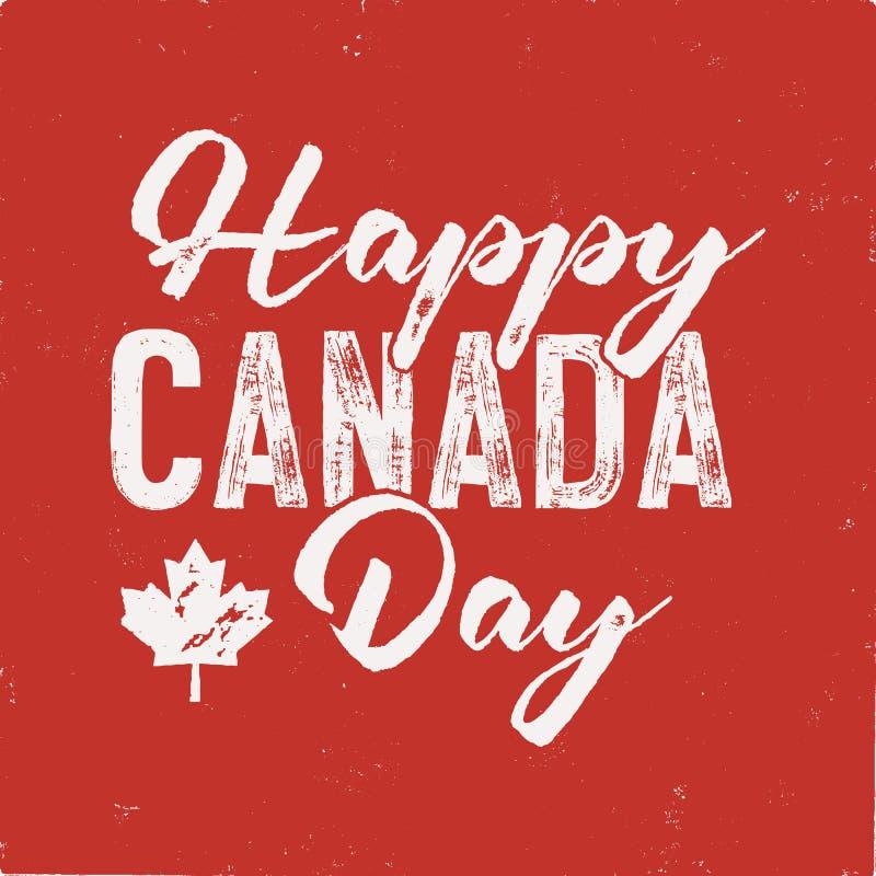 Szczęśliwa Kanada dnia koszulka dla prezenta Zakłopotany liść klonowy z tekstem Czytający i Biali Krajowi kolory Trójnik grafika  ilustracji