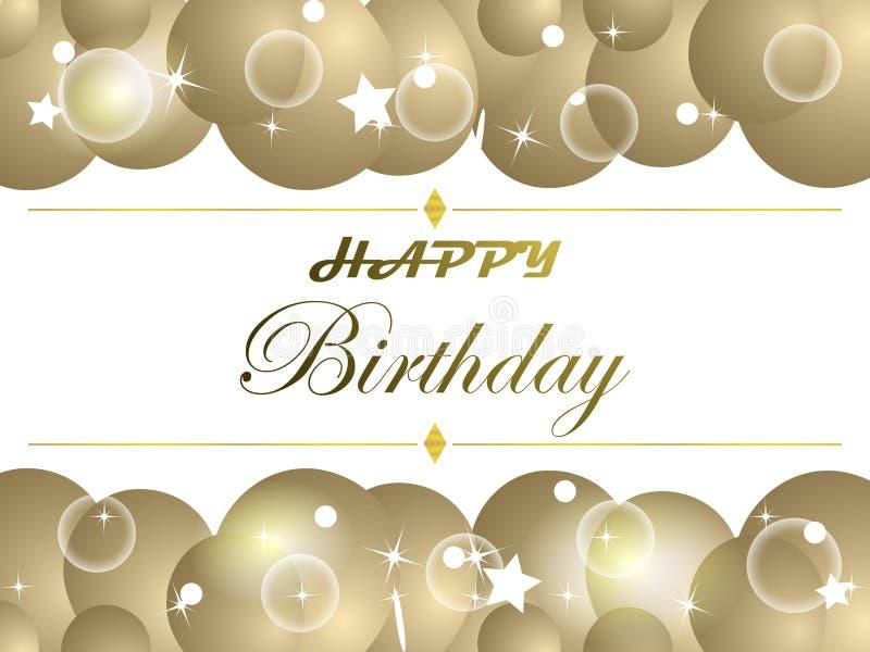 szczęśliwa kartkę na urodziny ilustracja wektor