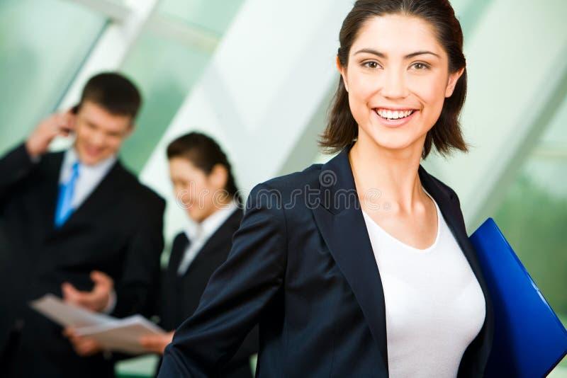 szczęśliwa kobieta jednostek gospodarczych obrazy stock