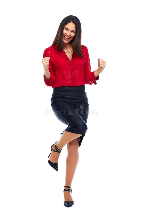 szczęśliwa kobieta jednostek gospodarczych obraz royalty free